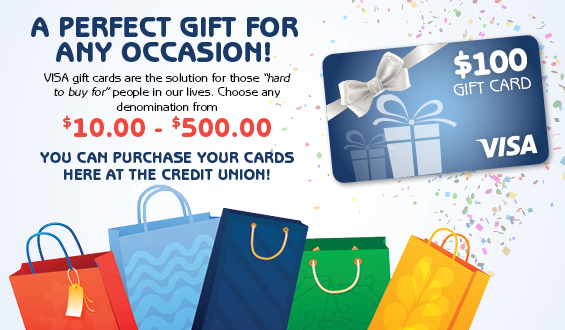 Virginia Beach Postal FCU - VISA Gift Cards